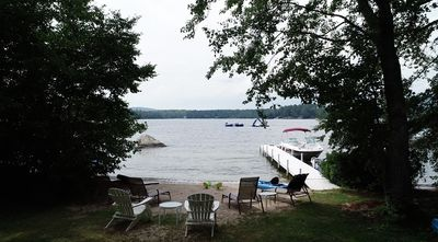 Enjoy the serene beauty of the lake right from the front yard!
