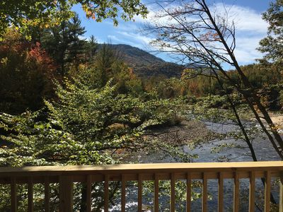 Waterfront Chalet on the Saco, Mountain Views, Updated, Sleeps 12! - Glen