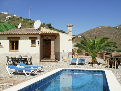 Photo for Detached villa with private pool with water slide, 4 km from the sea in Nerja