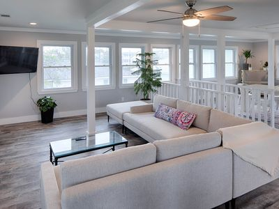 Photo for Upscale home two blocks from the ocean, w/free WiFi & covered deck!