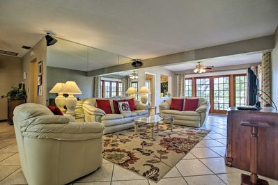 There's plenty of space to kick back and relax in this living room.