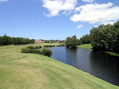 Photo for A second floor apartment overlooking the golf course.