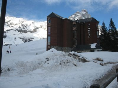 Photo for WI-FI free  flat on the slopes and near the center of Cervinia