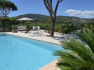 Photo for Beautiful four bedroom villa with three bathrooms and pool for 8 to 10 people