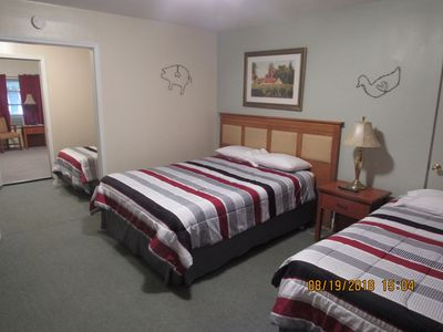 Photo for Motel suite, 2 rooms, 5 beds, 2 bath rooms, Each room has coffee
