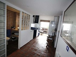 Living room, kitchen and terrace
