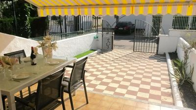 Photo for Ground floor with 2 beautiful terraces, 2 bedrooms. Llosa Beach at 350m
