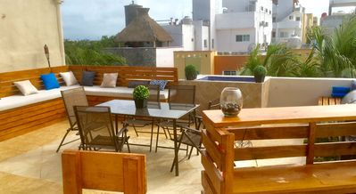 Photo for Private Room With Beautiful Roof Top Terrace ~ Close to Beach