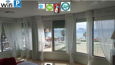 Photo for Rental home 20 meters from the beach with air conditioning, pool and parking