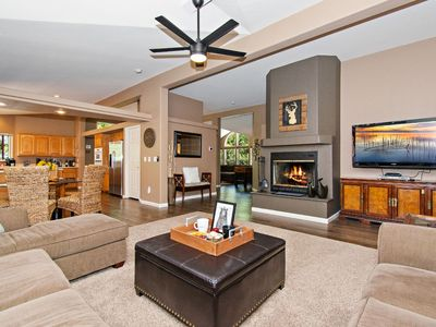 Photo for NEW Jacuzzi !! CLEAN * COZY * CONTEMPORARY... FOOSBALL * FIREPLACE * FUN!