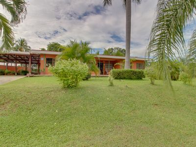 Photo for Dog-friendly, secluded villa w/ pool, terrace, grill & large, private lot