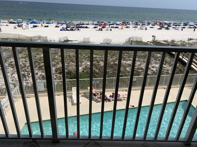 Photo for 3rd Fl balcony fantastic view of the beach and pool