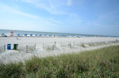 This could be your sight line as you enter the beach.