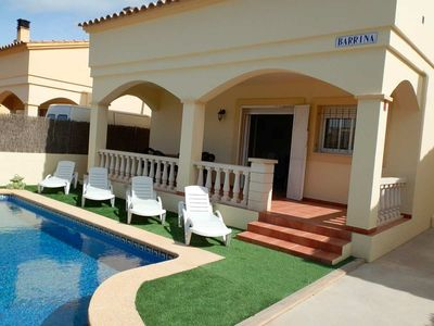 Photo for CASA BARRINA,Ideal house for your holidays near the sea, free wifi, air conditioning, private pool, pets allowed, dog's beach.