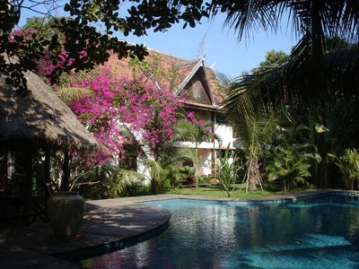 Photo for Mysteres d'Angkor your lodge with swimming pool in the heart of a large tropical garden ..