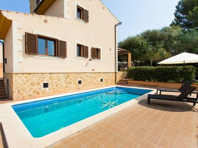 Photo for Mediterranean house-100 meters to the beach with private pool