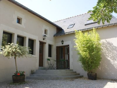 Photo for In Anjou, large cottage on the banks of the Loire near Angers 4 bedrooms.