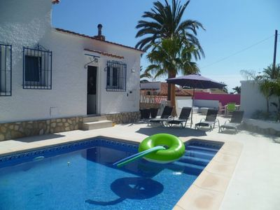 Photo for MODERN VILLA PRIVATE HEATED POOL, Air cond, SEA VIEW, BEACH at 5 MIN, Wifi