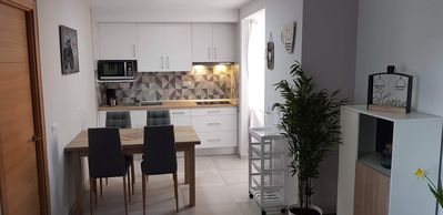 Photo for Renovated apartment 250m from the beach, overlooking the mountain and its citadel