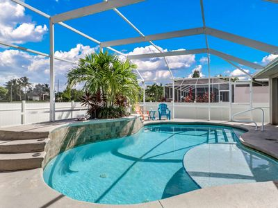 Photo for Large Family? Newly Listed SW Cape Coral Heated Pool Home Sleeps 8! Beach Gear, Privacy Fence, WiFi!