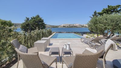 Photo for Modern seafront villa on the island of Pag