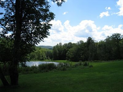 View from yard, above the pond