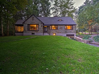 Photo for Historic Stone Cottage w/Firepit-Walk to Lily Lake