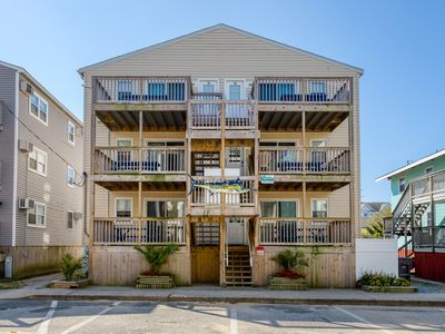 Photo for Charming condos w/ ocean views - one block from beach - dogs OK in two condos!