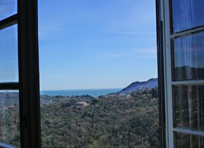 View from the blue bedroom