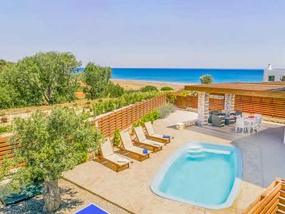 Photo for A beachlovers paradise! Just a minutes walk from Gennadi beach and 20 minutes to a beachside restaurant and bar,  A fresh, modern, comfortable villa,  perfect for couples, with private swimming pool and spacious  terrace.Wonderful sea views.