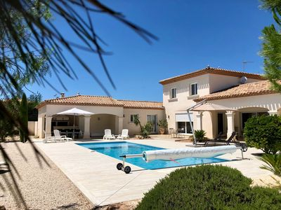 Photo for Exclusive holiday home in a very quiet location with private pool, near the beaches
