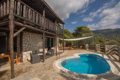 Stunning traditional villa with private pool surrounded by hills and forest
