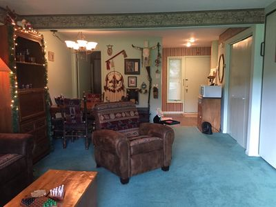 Photo for studio style condo with great view of Holiday Valley ski hills and chairlifts