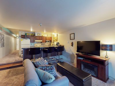 Photo for Updated ski-in/ski-out condo w/ shared game room & sauna - walk to lifts!