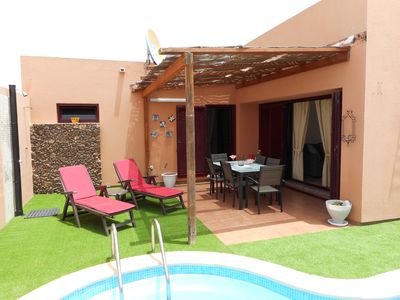 Photo for 3 Bedroom Villa with private garden and pool