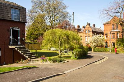 Situated in a leafy tree-lined park in a secluded cul-de-sac