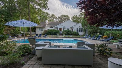 Photo for Spectacular Mini-Resort in Westhampton w/ Heated Pool, Game Room, Deluxe Entertainment, Sleeps 20