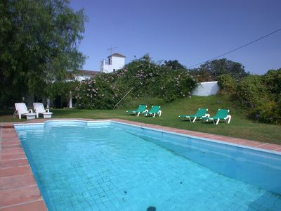 Finca from pool