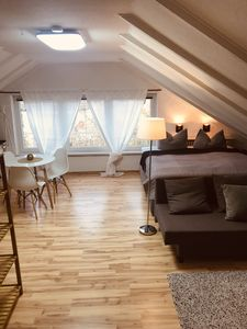 Studio apartment below the university clinic * box spring bed, kitchenette  and bathroom * - Homburg