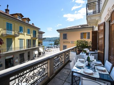 Photo for Ricky apartment with  terrace in Baveno city center