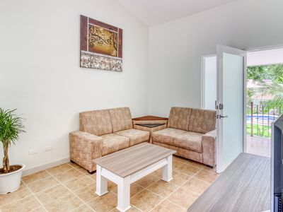 Photo for Playas del Coco apartment w/a shared pool, pool spa, gardens, & picnic area