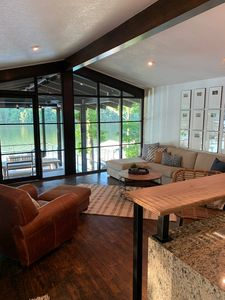 New windows maximize the view of the lake and Garvan Woodland Gardens