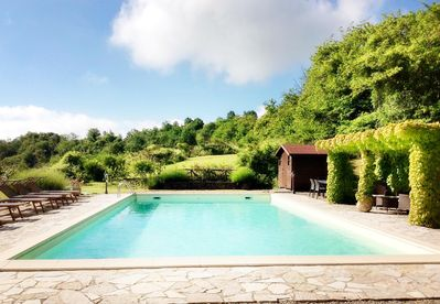 The 12mx6m pool is secluded and private.