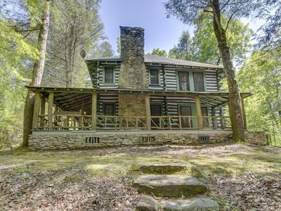 Photo for Shamrock House:Historic Log Cabin, Servant's Quarters, Cottage with trout stream