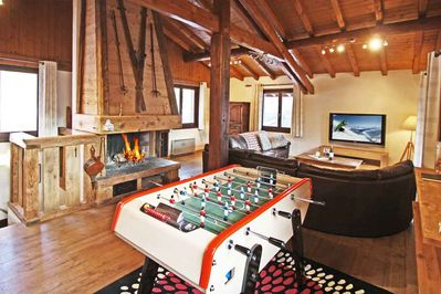 Living room and table football