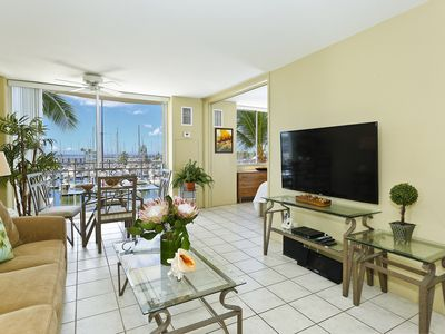 Photo for YACHT HARBOR VIEWS!  1-bedroom with AC, WiFi, Washlet!