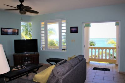 All the comforts of home and living room overlooks Sandy Beach!