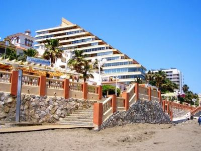 Photo for Apart. Benalmadena on the beach with pool and garden. Next to Puerto Marina