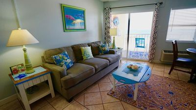 Photo for Emerald Skye 32 - Cozy, Cute Beachy Decor, GREAT View & Outdoor Heated Pool - Beachball Properties
