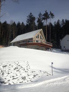 view of chalet from the road
